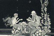 Mermaid book illustrations