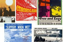 Surf Posters / We saw these films at Santa Monica Civic and Pier Avenue. Darn ... that was a long time ago.