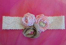 Handmade hairbows / Hairbows for litle princesses with handmade flowers