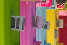 Neon Brights / A collection of neon colour combinations, to inspire bright interior colour schemes.