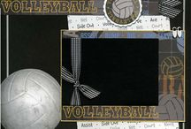 Volleyball scrapbook pages