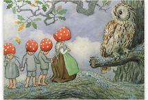Barnebok illustrasjoner