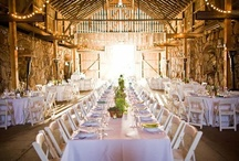 Barn weddings / If you're looking for something ultra rustic but pretty for your party or wedding reception, this is the board for you!