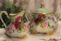 romantický porcelán