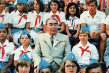 Leonid Brezhnev and friends / The former dictator of the Soviet Union Leonid Brezhnev.