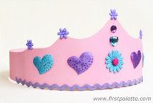 Crown Crafts for Kids / Princess crowns, paper crowns, and more crown crafts for kids to make