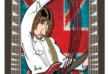 Classic Rock Tarot Cards® / Here are a few cards from my 78 cards deck of Classic Rock Tarot Cards®