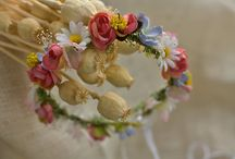 Flower hair wreath, floral head wreath