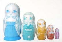 Nesting dolls, Kokeshi, Kimmidoll ❤️❤️❤️❤️