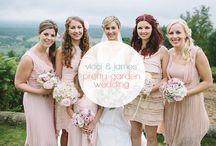 Pink & Grey English Garden Marquee Wedding