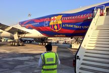 #QatarFCB777 worldwide / Where has the FC Barcelona livery travelled? Spot the Qatar Airways plane with the FC Barcelona livery, and post your photo from where you've spotted it. / by Qatar Airways