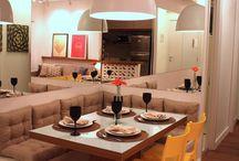 Sala jantar com cozinha