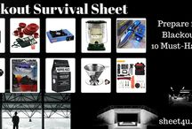 Blackout Survival Sheet / Blackout Survival - the key is coffee