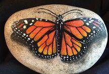 Fjäril stenar