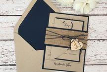 Wedding invitations navy