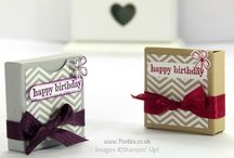 3-D Projects Stampin' Up! / Box Tutorials
