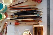 Studio :: Dennis Happé / Pictures from the studio of artist Dennis Happé