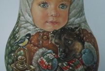 kind russian roly poly nesting Artist Usachova