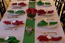 decoração de mesa de Natal mirianlopes