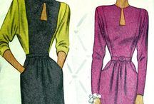 Vintage & Couture Dressmaking / Clothes and making clothes, great style elements of clothing, designs that stun me.