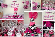 Pink Zebra / Pink zebra themed birthday party ideas and cakes.