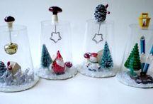 decorazioni plastica natale