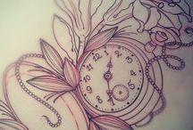 Карманные часы татуировки