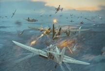 WW2 Air Warfare Paintings and drawings