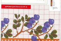 Cross-stitching Motives, Decoratives / Вышивка крестиком: орнаменты, декоративные элементы