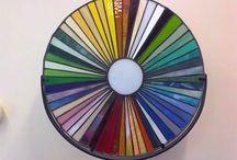 Rondje kleurrijk / Glas in lood