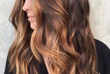 Karamel gölgeli saçlar