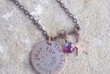 Vintage Memory Necklaces / Hand stamped vintage necklaces in bronze, brass, silver, and copper