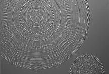 SHIGENO ICHIMURA / Japanese artist - paints  intricate circular patterns made by meticulously hand-squeezed dots that reveal the artist's passion for details, and their correspondence to the traditional JAPANESE sense of precision