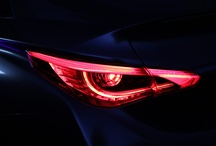 Cars tail lamps