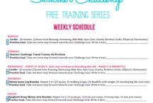 SUMMER CHALLENGE Training Series / Sculpt, Slim, Tighten & Tone with me for the next 6 weeks! I'm going to show you some of my favorite tips and tricks to feel the best you've ever felt and let your confidence really shine! I want you to feel excited packing that bikini for the beach, showing off your toned arms in that spaghetti strap sun dress, and gettin' your sweat on in your cute new colorful workout gear! www.StephHendel.com
