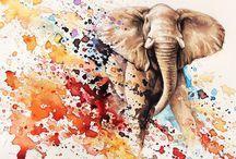 Рисунки Со Слонами
