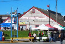 Steveston Farmers & Artisan Market / At the market. Vendors, volunteers, customer  fun.