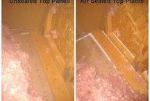 Attic Air Sealing - Before & After