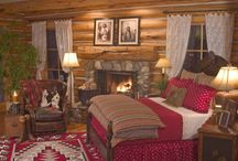 Log Home chambre a coucher