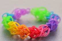 Armbandjes van elastiekjes, rainbow loom
