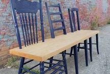 banc avec chaises