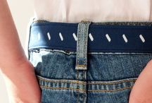 Belts / Using designer handprinted cotton and linen, these d-ring belts are beautiful and fun.