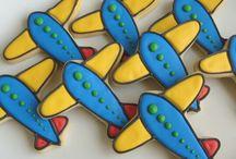 Cookie art vliegtuigies