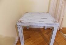 Rustic decoupage furniture