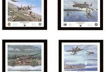 WWII artwork by Jack Fellows and Steve Ferguson / Pacific WWII artwork by two great artists that can be found on our website. Buy the prints here: https://irandpcorp.com/products/