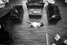 On the floor