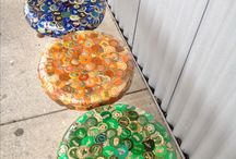 Bottlecap Ideas / I have thousands of bottle caps I have been saving for years. People keep giving them to me! I originally was going to make a table....but I have WAY more than a table's worth!