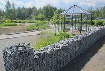 Gabions - kivikorit puutarhassa / Ekikori kivikorit puutarhaan ja ympäristörakentamiseen.