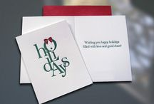 Sky of Blue Cards - Holiday Cards  / Chic. Fun. Whimsical. Luxurious letterpress seasonal greeting cards from Sky of Blue Cards.
