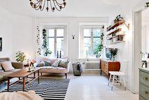 White painted floors